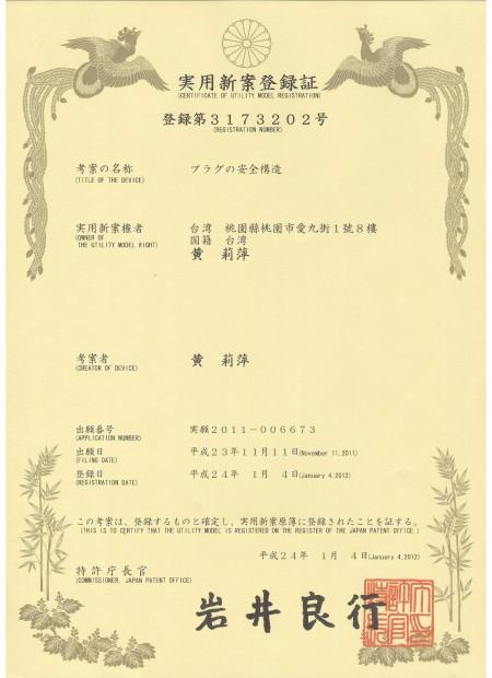 Zárható patch zsinór JAPAN Patent