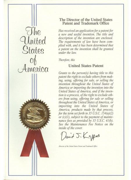 Zárható patch zsinór USA szabadalom