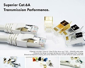 Cat6A STP modulär kontakt