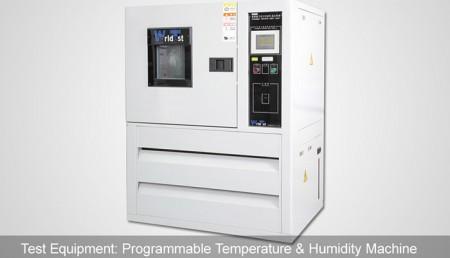 Programozható hőmérséklet és páratartalom gép