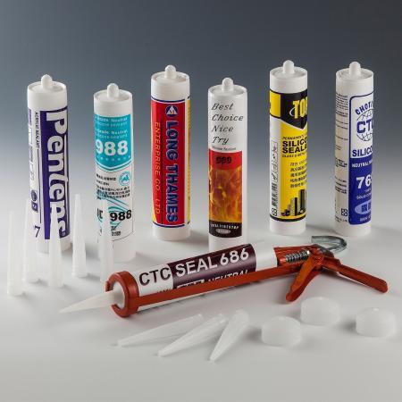Cartouche imprimée - Cartouche PE pour mastic silicone - Cartouche PE pour mastic silicone - Cartouche imprimée