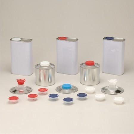 Cierres flexibles / roscados para latas de metal