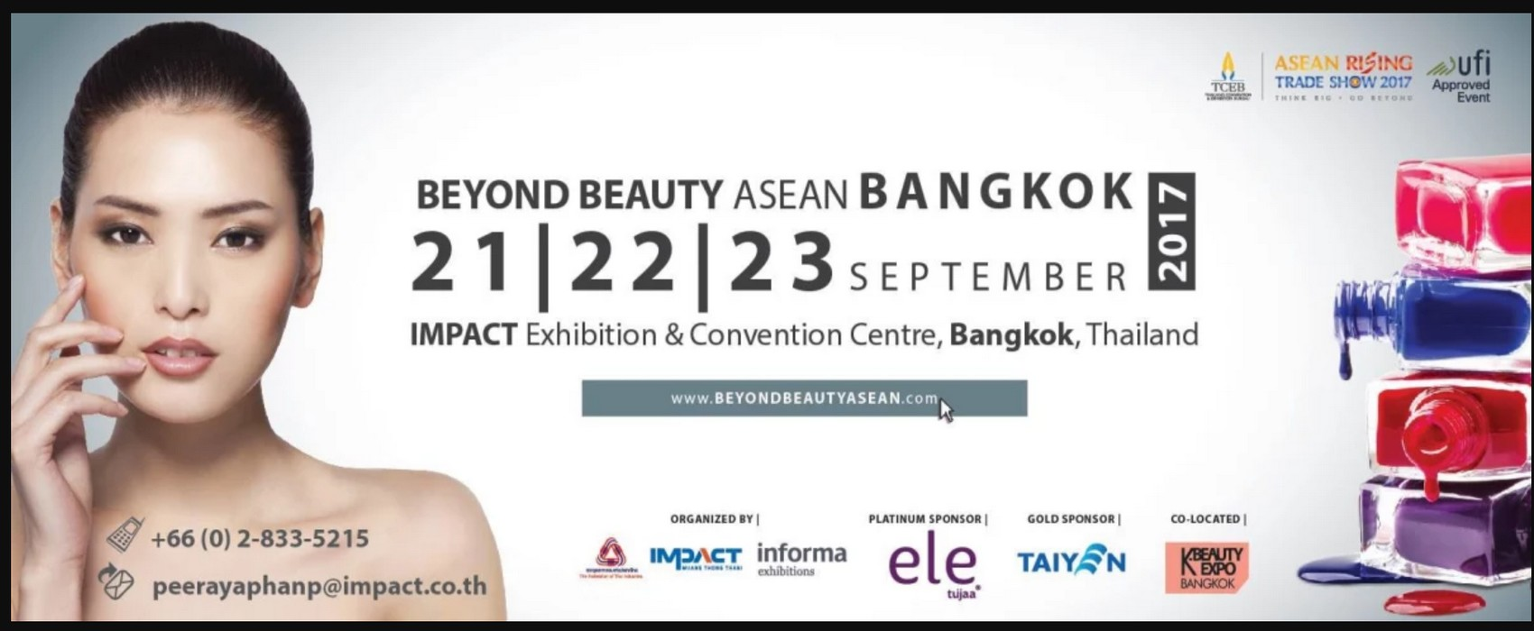 Exhibition of Beyond Beauty ASEAN in Bangkok