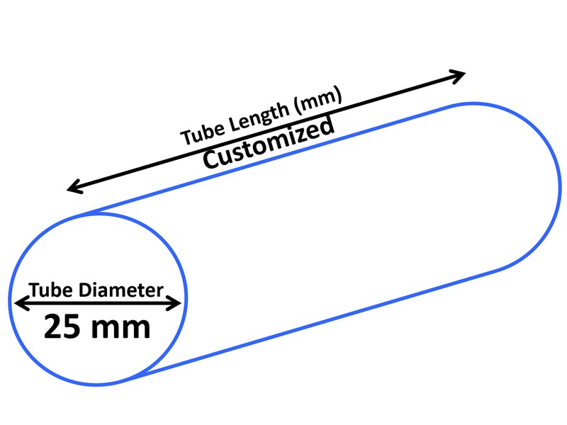 Tubo cosmético de 25 mm de diámetro