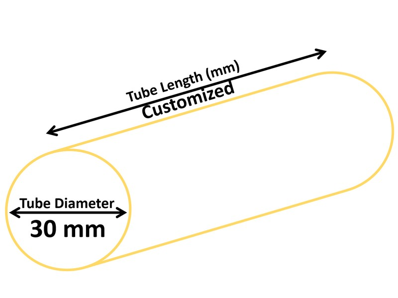 Tubo cosmético de 30 mm de diámetro