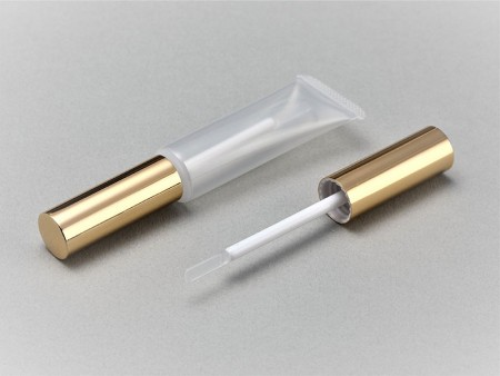 Flexible Tube with Lip Gloss Silicone Wiper Cap