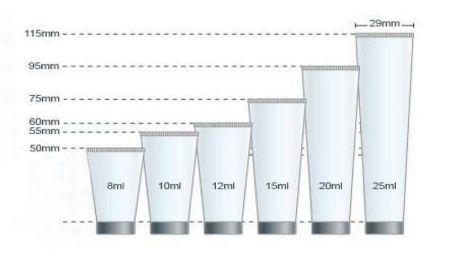 Diameter Kemasan Tabung Kosmetik Bagan Volume 19mm