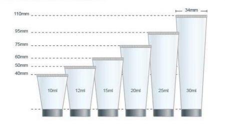 Bagan Volume Diameter Kemasan Tabung PE 22mm