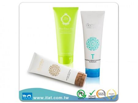 Lotion Flip Top Cap Plastic Skincare Tube - Skincare flip top cap soft plastic tube for toothpaste, foaming gel, or tanning cream.