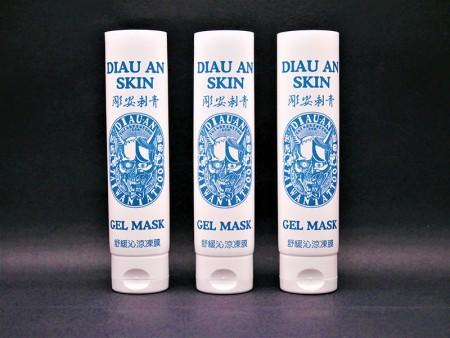 Cosmetic Oriented Flip Top Cap Serum Packaging Tube - Cosmetic skincare soothing gel tube packaging with oriented flip top cap.