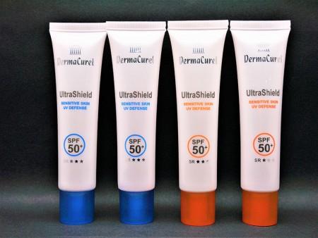 Tabung Plastik Lembut Kosmetik dengan Pencetakan Khusus - Tabung kosmetik untuk tabir surya dengan pencetakan khusus.