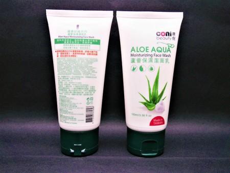 Farmasi Sport Cream Aloe Vera Gel PE Tube Container - Tabung wadah gel lidah buaya apotek dengan tutup atas flip.