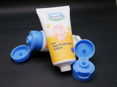 Flip Top Cap for baby protection cream tube - Flip Top Cap for baby protection cream tube