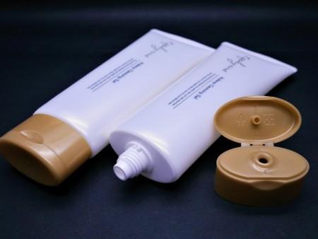 Tube ovale avec capuchon rabattable pour gel de maquillage 160 ml - Tube ovale + Flip Top Cap pour gel de maquillage 160 ml