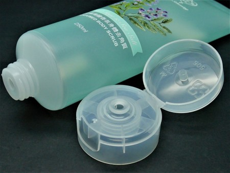 Flip Top Cap for 300ml perfumed body scrub tube