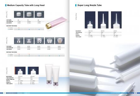 Tubo de tapa de acrílico y tubo de boquilla largo
