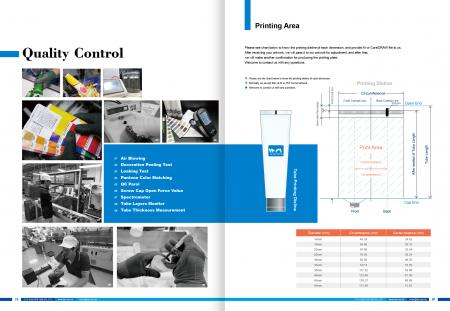 Quality Control & Printing Area