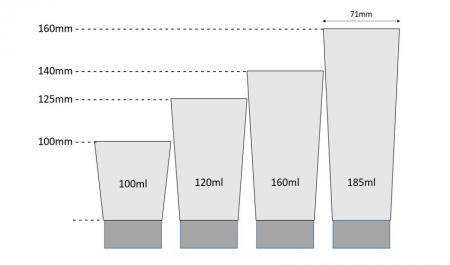 Shampoo Diameter Kemasan Tabung Oval 45mm Bagan Volume