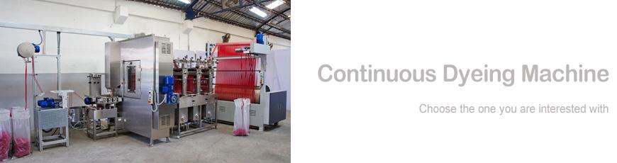 Machine de teinture de rubans en continu