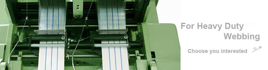 Serie de máquinas de telar de agujas de tela estrecha y pesada