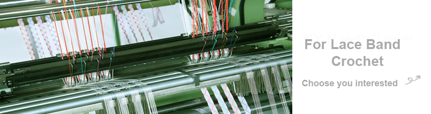 Série de máquina automática de crochê de fita de renda de alta velocidade