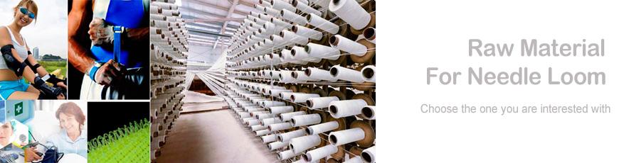 Rohstoff für Nadelwebstuhl