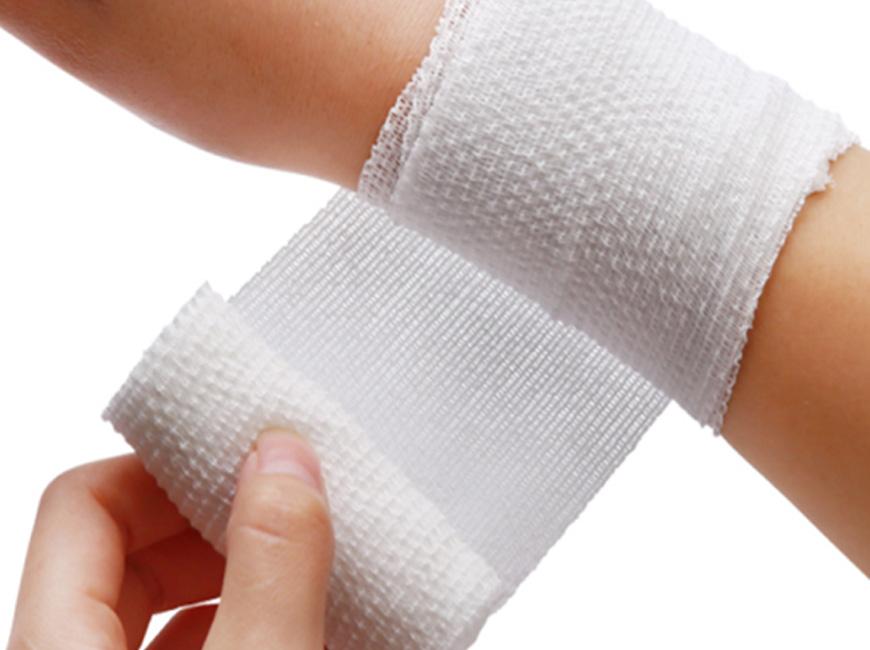 Bandage de soins médicaux.