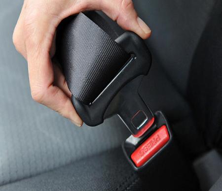 Accessoires textiles automobiles de ceinture de sécurité.