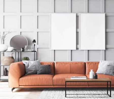 Sofa with accessories of the elastic webbing.