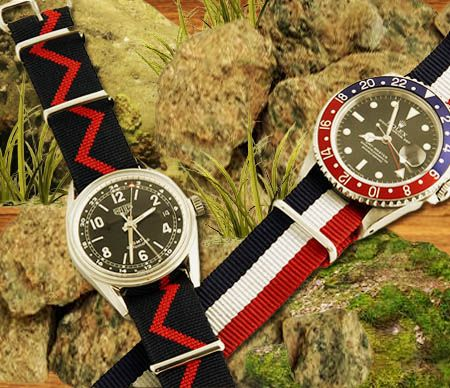 Textile accessories for watch straps.