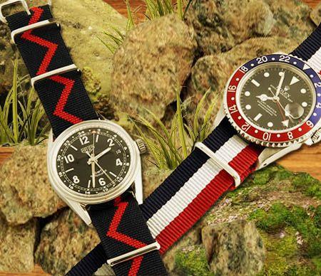 Accessoires textiles pour bracelets de montre.