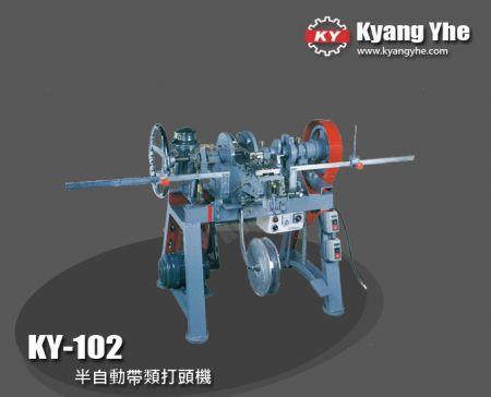 半自動帶類打頭機 - KY-102 半自動帶類打頭機
