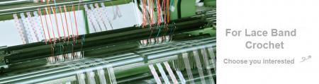 고속 자동 레이스 밴드 크로 셰 뜨개질 기계 시리즈