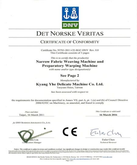 KY machine CE Certification