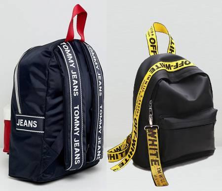 Jacquard backpack straps