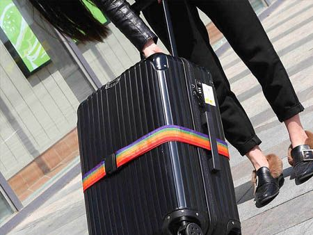 Multicolor Luggage Strap