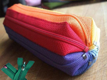 Nylon Zipper for pencil case appliced.
