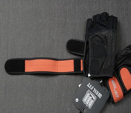 Crochet et boucle pour gants