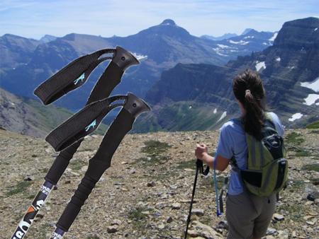 Breites und schmales Band für Trekkingstöcke.