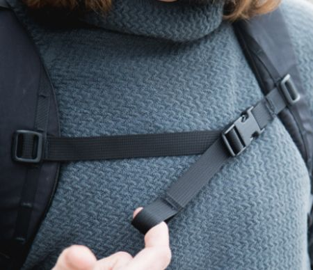 Sternum straps for backpacks