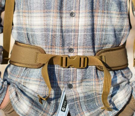 Waist adjustment straps for backpacks
