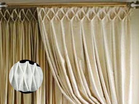 抽皱顶折窗帘