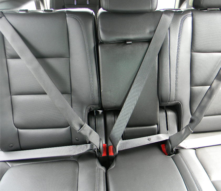 Three point seat belt