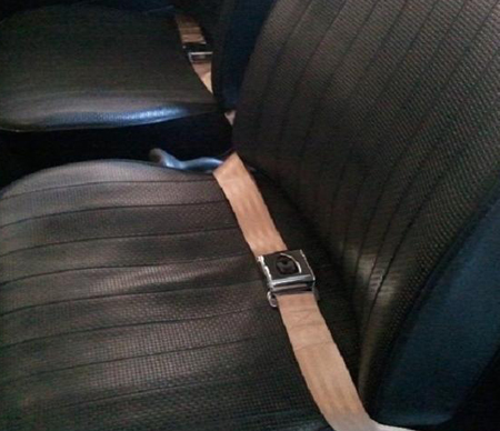 Two point seat belt