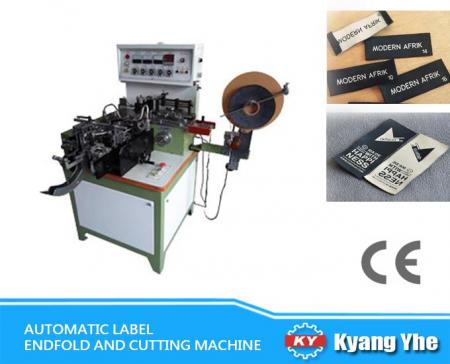 Automatic Label End Fold And Cutting Machine - KY-288E Automatic Label Fold sides Cutting and Folding Machine
