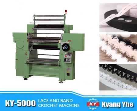 Machine de crochet à bande de dentelle à grande vitesse - Machine à crocheter à bande de dentelle à grande vitesse KY-5000