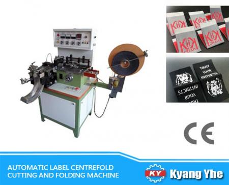 Automatic Label Centrefold Cutting And Folding Machine
