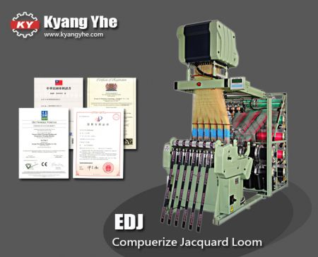 Bonas Type Narrow Fabric Electronic Jacquard Loom Machine - EDJ Electronic Narrow Fabric Jacquard Needle Loom