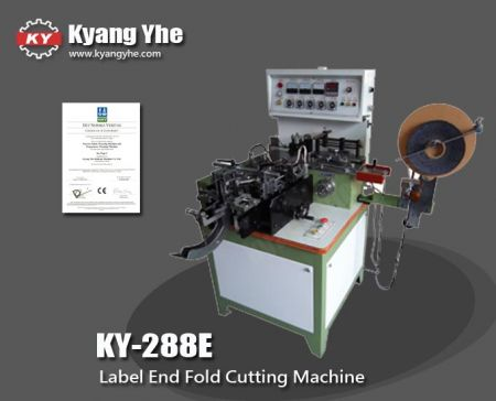 Label End Fold Cutting Machine - real deal dildos-288E Automatic Label Fold sides Cutting and Folding Machine