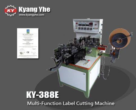 Machine de découpe de pli d'onglet d'étiquette - Machine de découpe et de pliage d'étiquettes automatique multifonction KY-388E